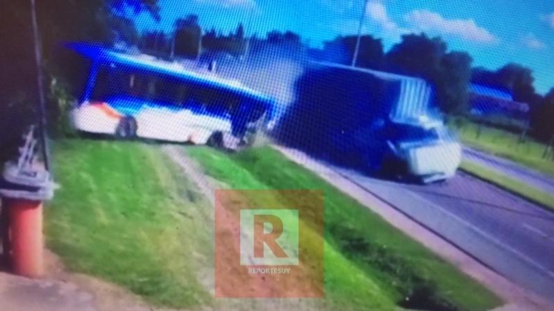 choque camion omnibus