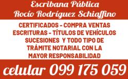 ESCRIBANA ROCÍO RODRÍGUEZ 099 175 059