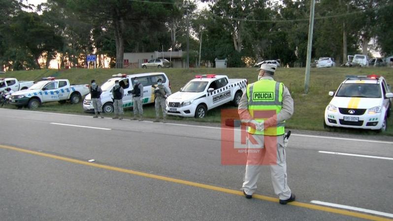 controles policiales en la ruta 2