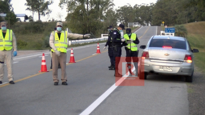controles policiales en la ruta 3