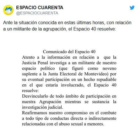 ESPACIO 40 DESVINCULA EXPLOTADOR SEXUAL