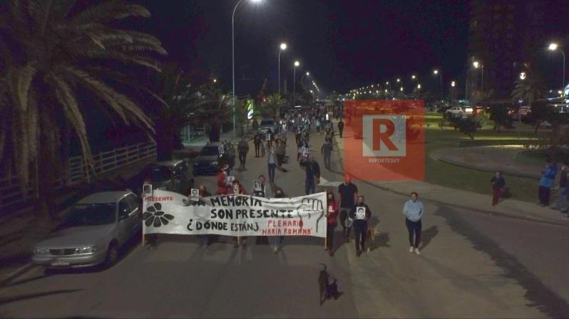Marcha del silencio en La Paloma