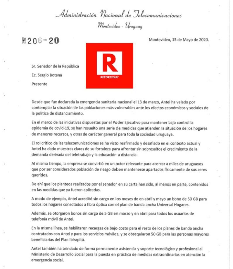 RESPUESTA DE ANTEL A BOTANA 1