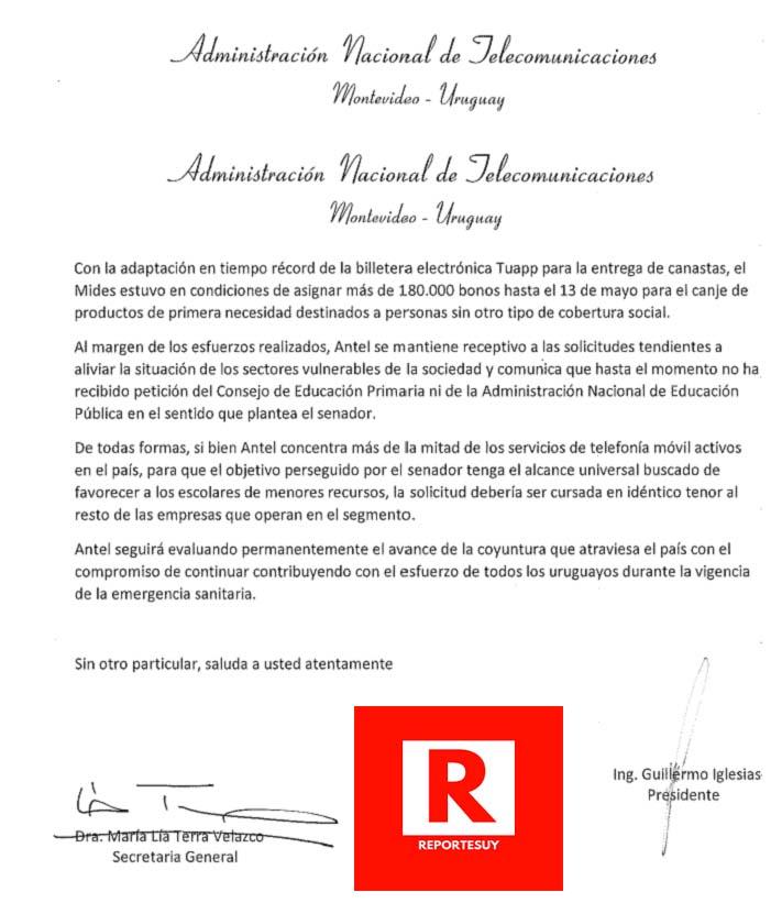 RESPUESTA DE ANTEL A BOTANA 2
