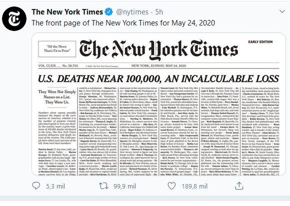 TWEET NEW YORK TIMES