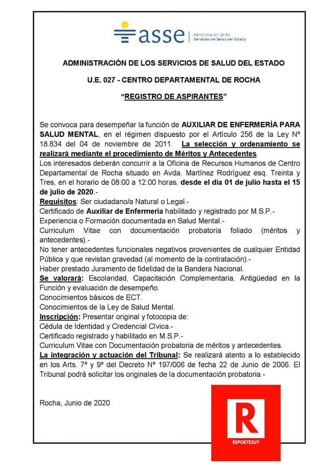 LLAMADO AUXILIARES ENFERMERIA 1