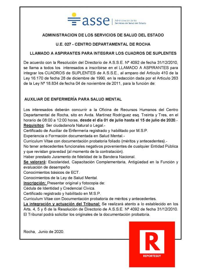 LLAMADO AUXILIARES ENFERMERIA 2