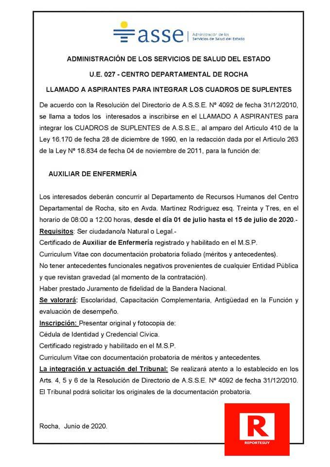 LLAMADO AUXILIARES ENFERMERIA 3