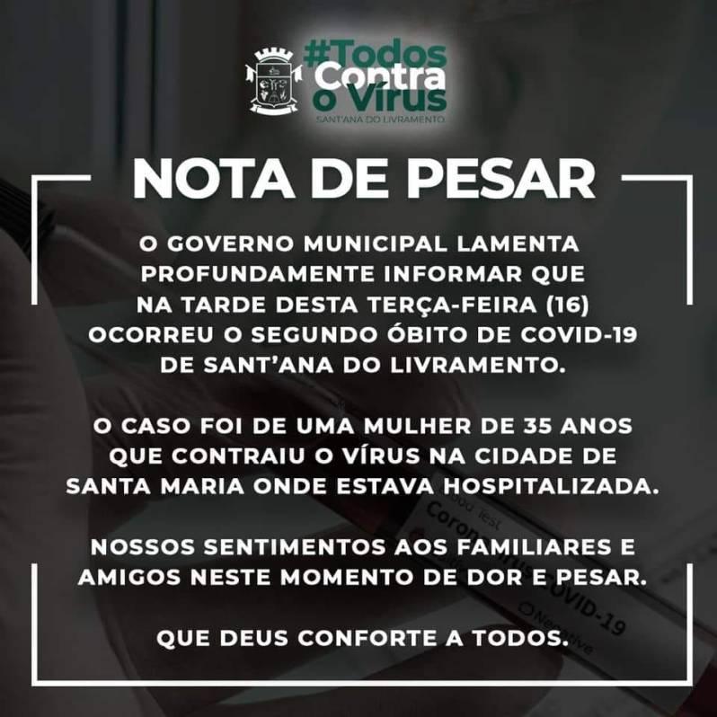MUERTE COVID-19 SANTANA DO LIVRAMENTO
