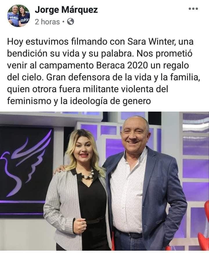 SARA WINTER CON JORGE MARQUEZ