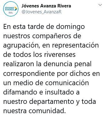 TWITTER JOVENES AVANZA RIVERA