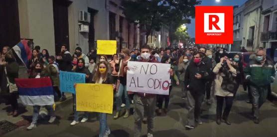 MOVILIZACION CONTRA EL ODIO EN SALTO